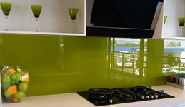 Painted Glass Splashback - Avocardo