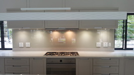 Painted Glass Splashback - Cream