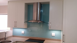 Painted Glass Splashback - Egg Blue