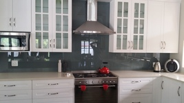 Painted Glass Splashback - Grey