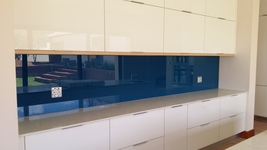 Painted Glass Splashback - Midnight Blue