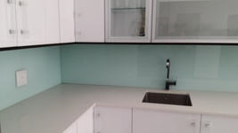 Painted Glass Splashback - Std. White