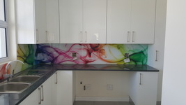 Printed Splashback - Absbract Multi colour print